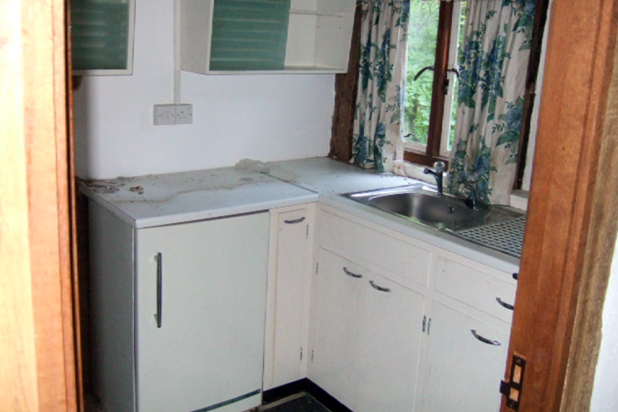 Before: The old kitchen
