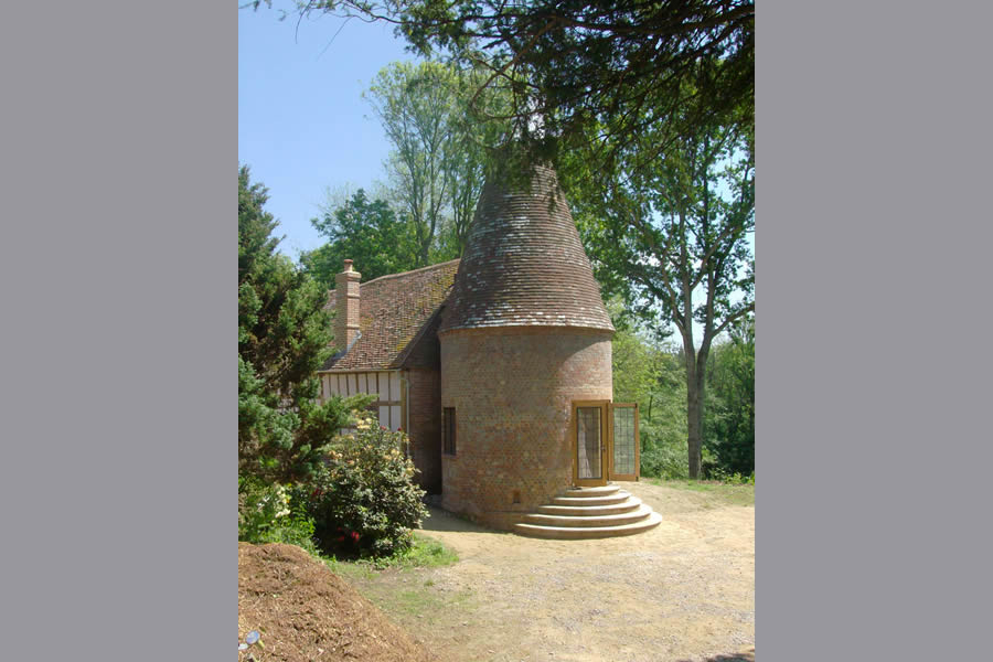 After: The Oast roof and cowl
